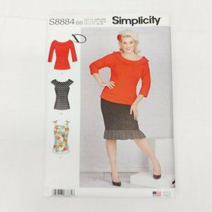 SIMPLICITY  size 10-18 PATTERN  8884  TOPS  MISSES